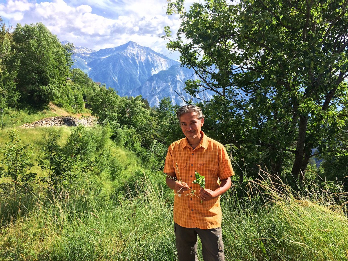 Herb tour in Albinen Switzerland