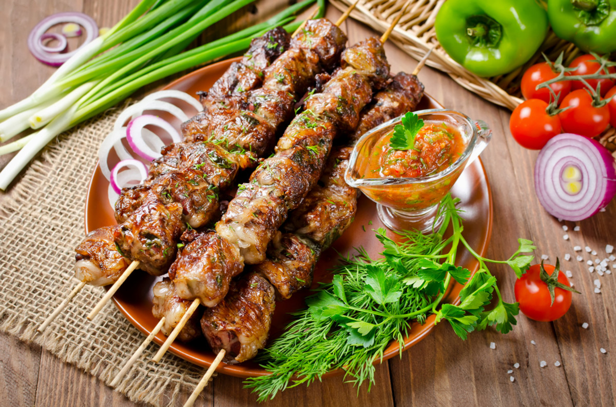 beef liver kebabs are super rich in iron