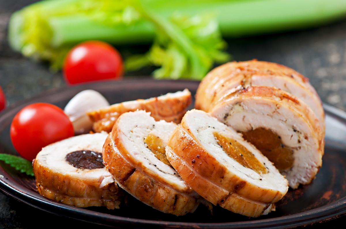 chicken roll stuffed with iron rich foods