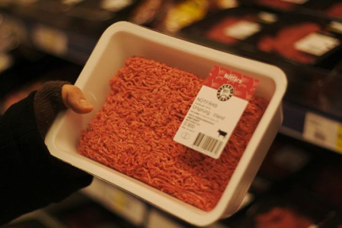 Ground beef from unknown number of cows