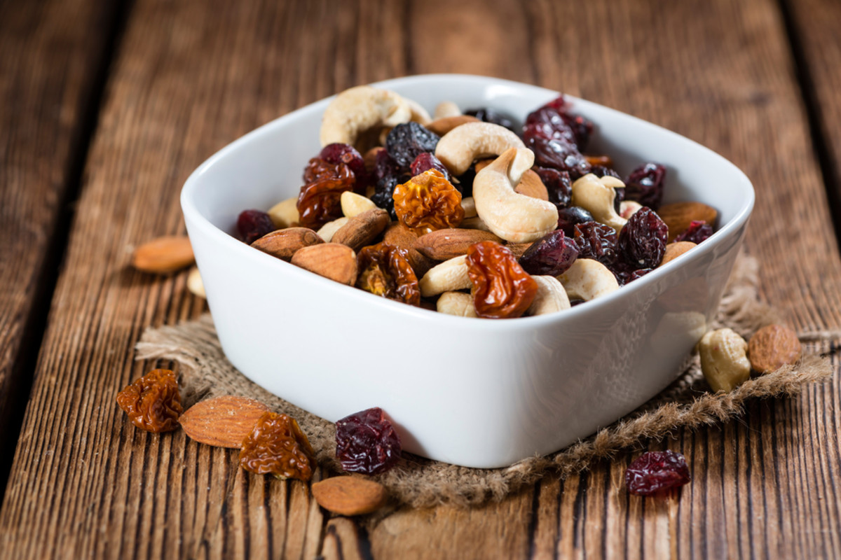 trail mix filled with iron rich foods