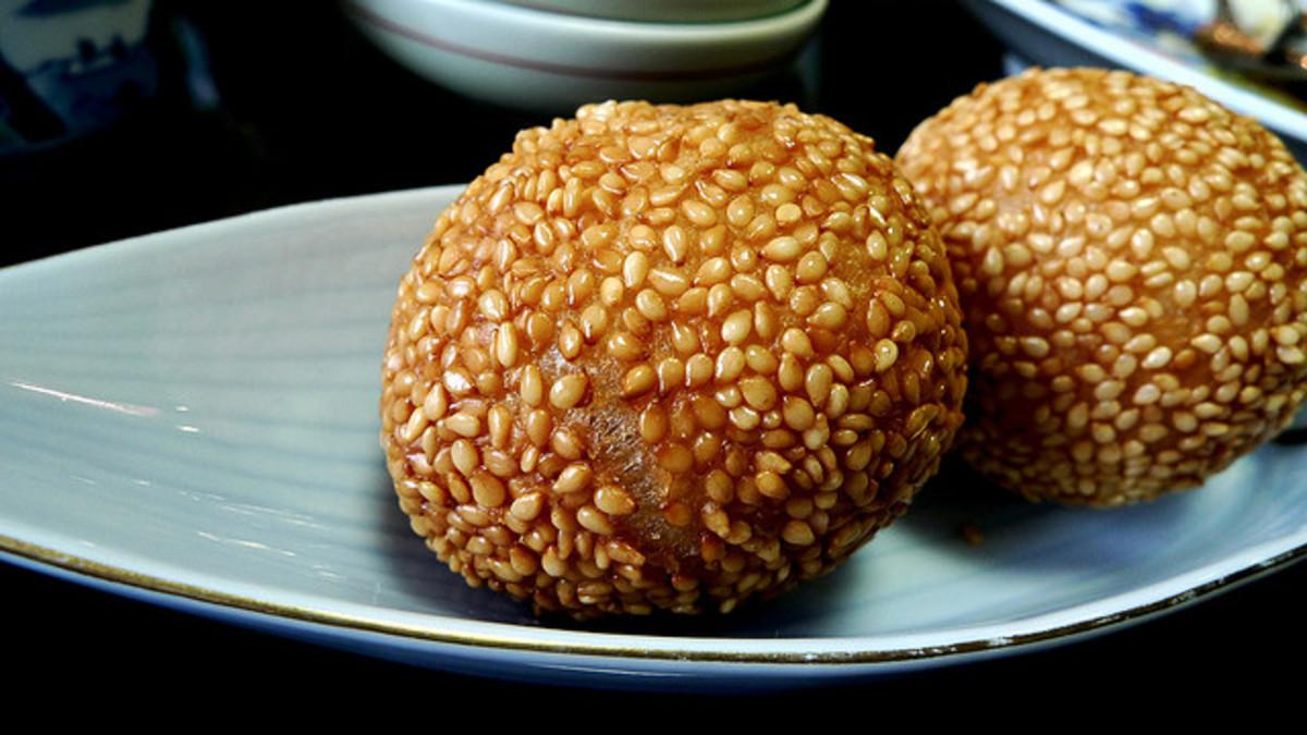 sesame azuki balls