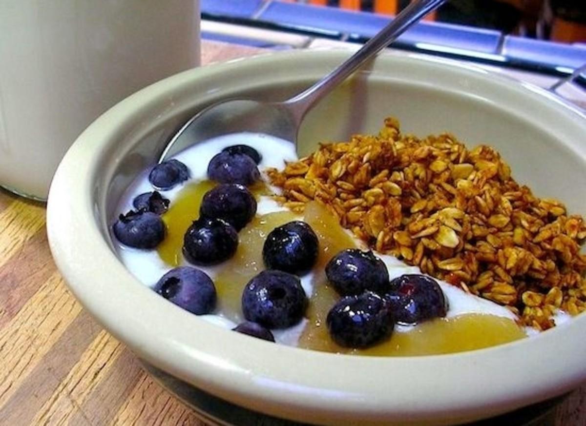 yogurt-blueberries