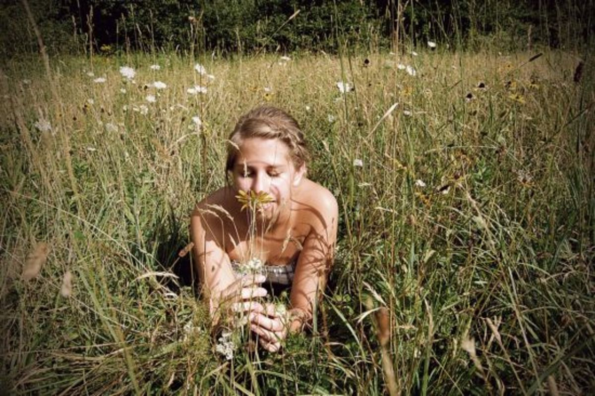 Girl in the weeds