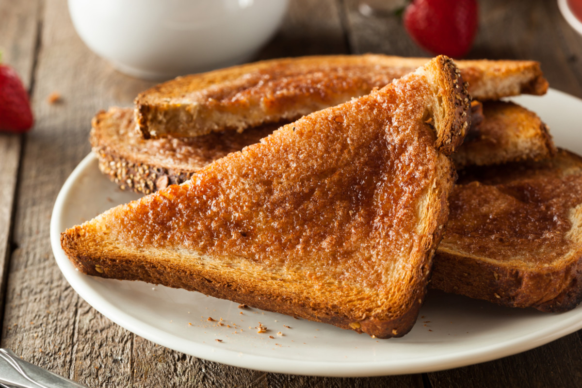 Fancy toast can be simple: all it needs is brown sugar and butter.