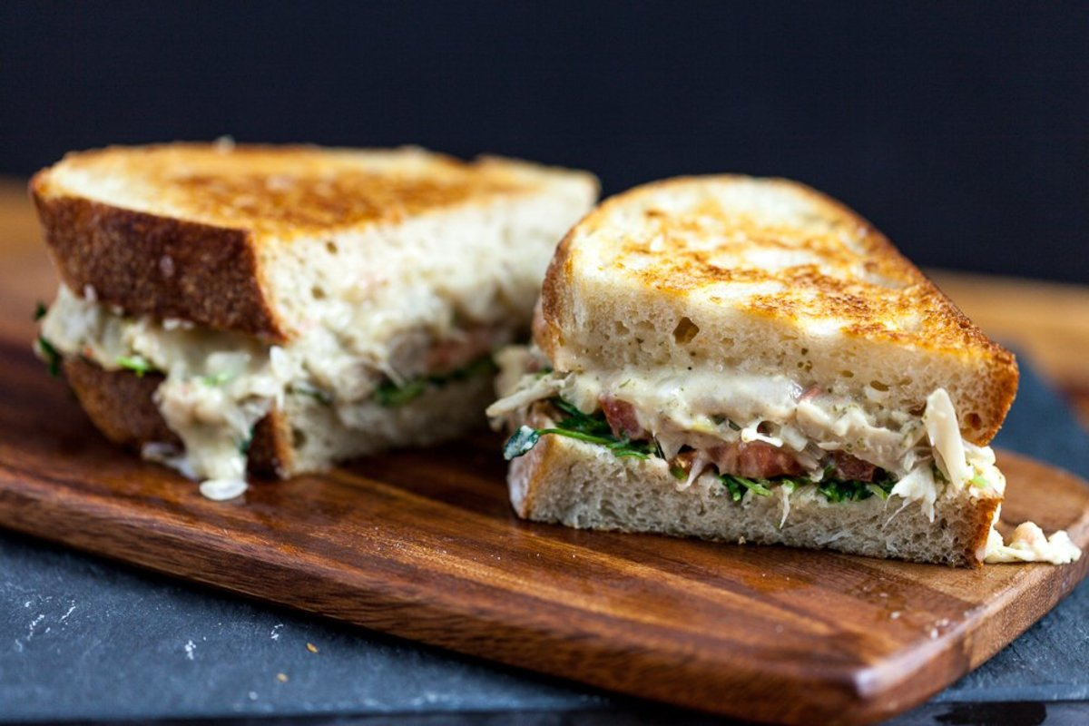 jackfruit tuna melt