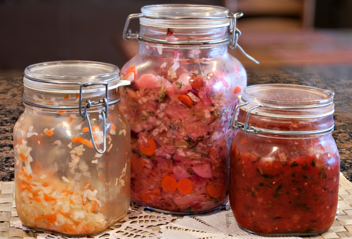 Unique food combinations, fermented