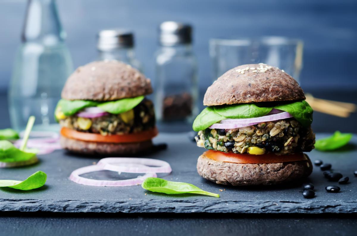 veggie burger photo