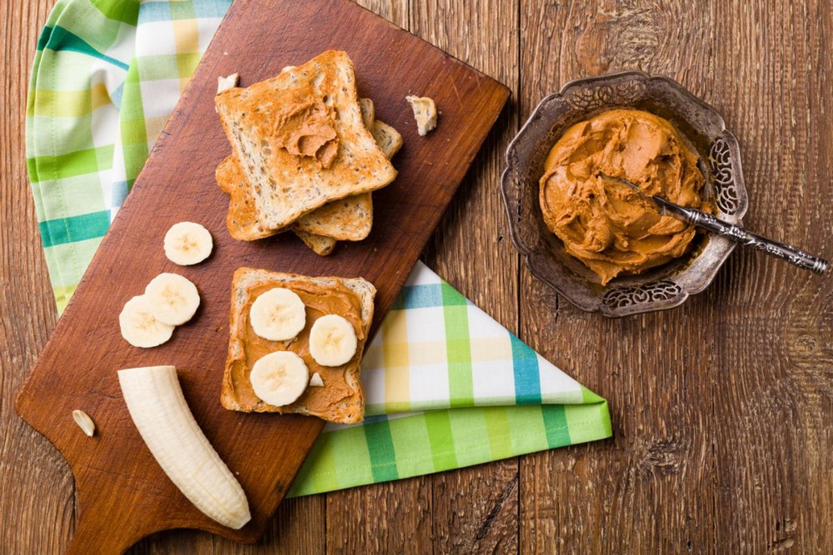 banana bread with peanut butter photo