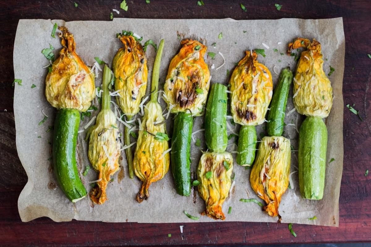 stuffed zucchini blossoms
