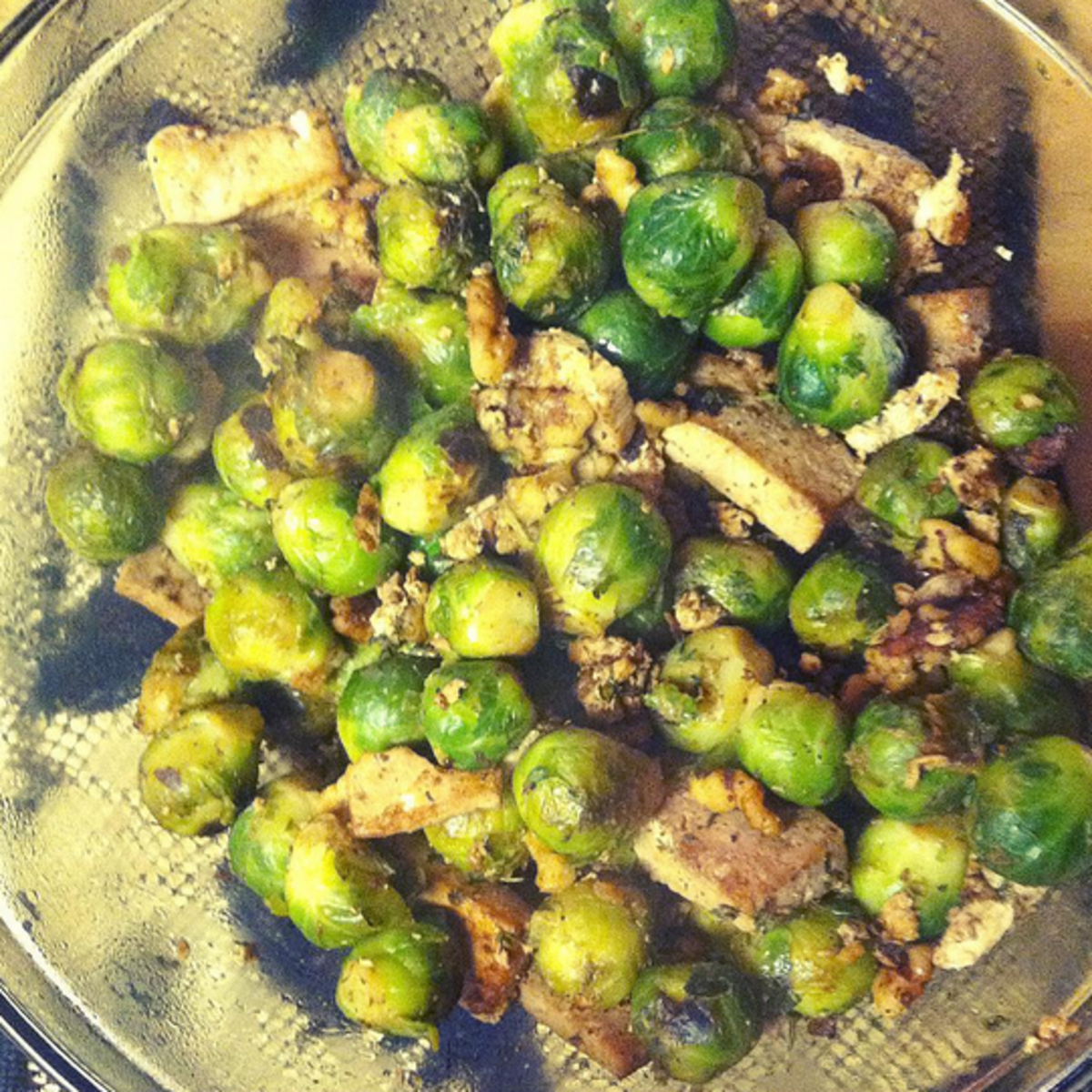 Brussels sprouts, tofu