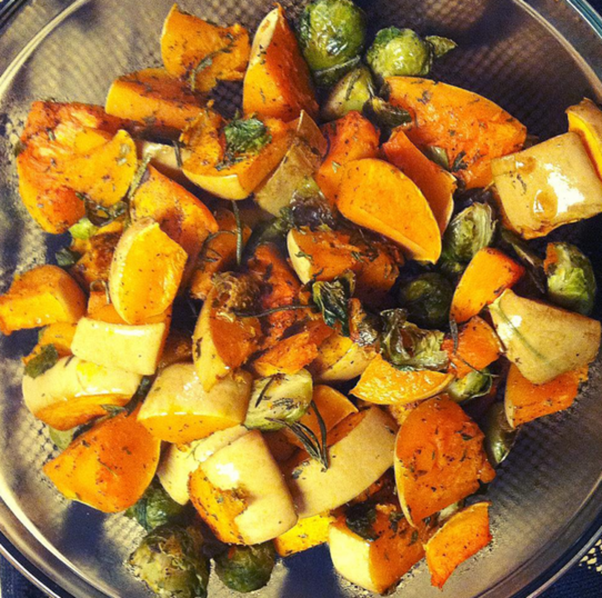 Brussels sprouts, squash