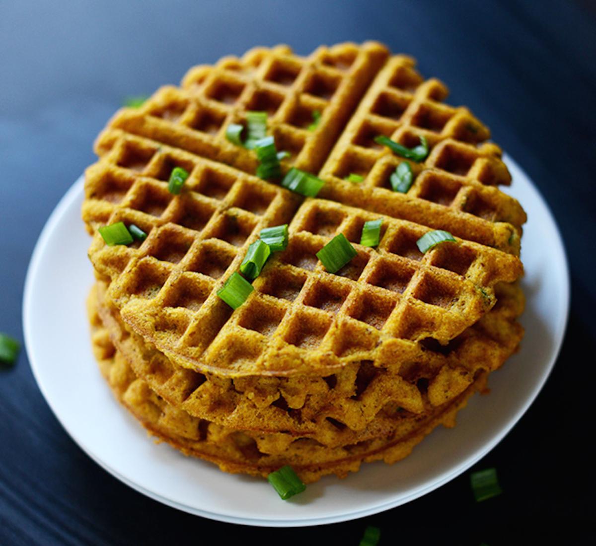pumpkin recipes - pumpkin waffle
