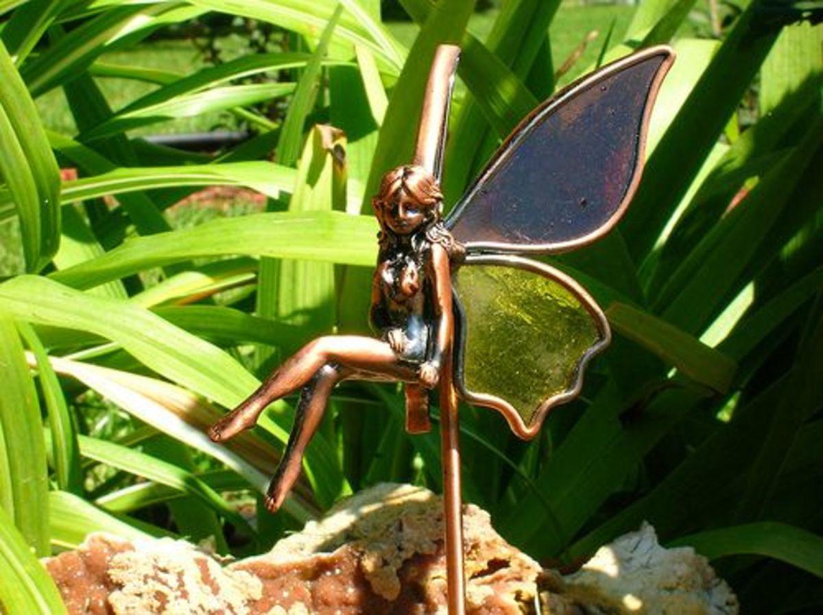 Fairy in garden.