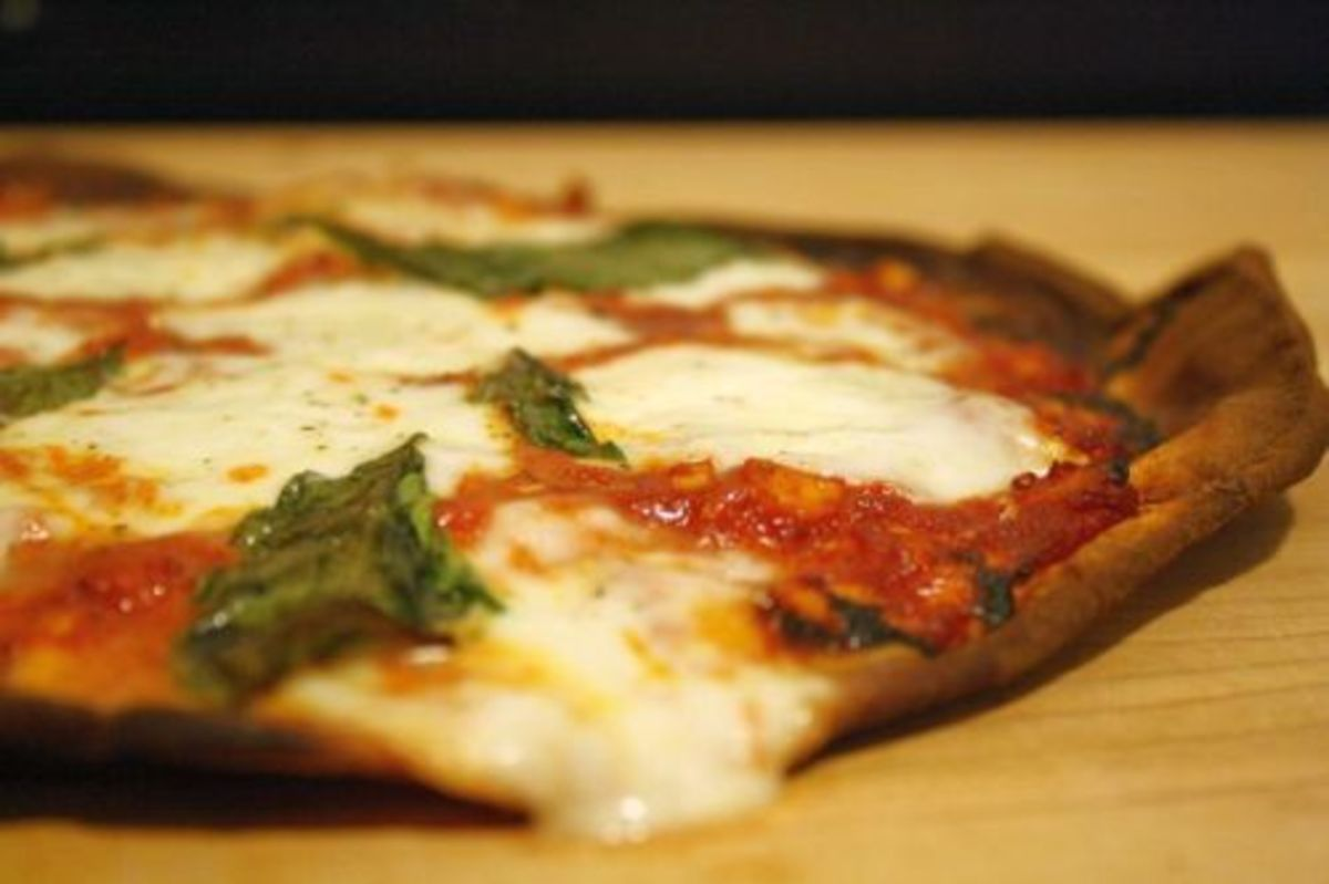 Flatbread Margherita Pizza, by Kimberley Stakal