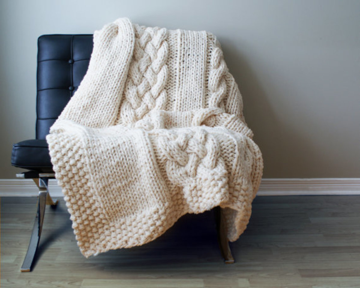 11 great crochet and knit throw patterns.