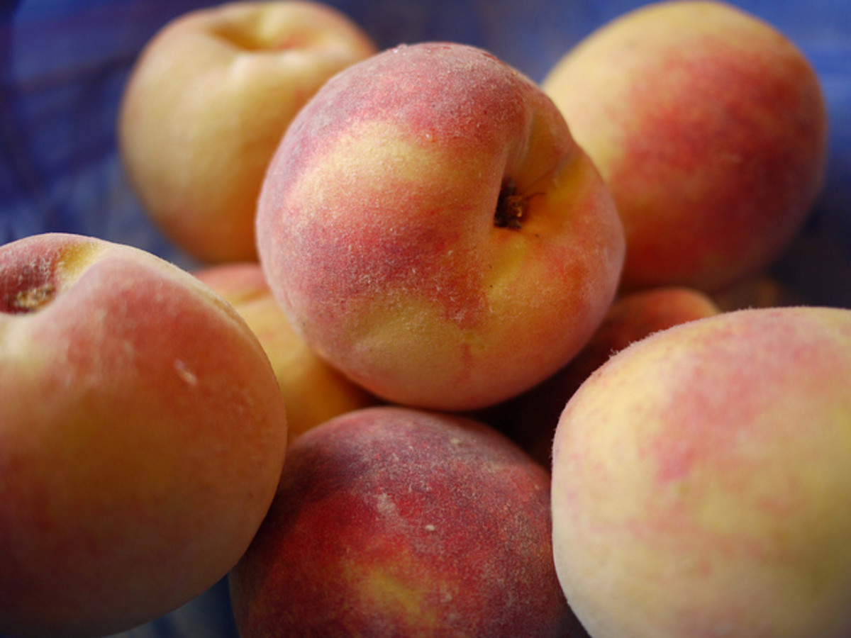 Vegan summer recipes, peach