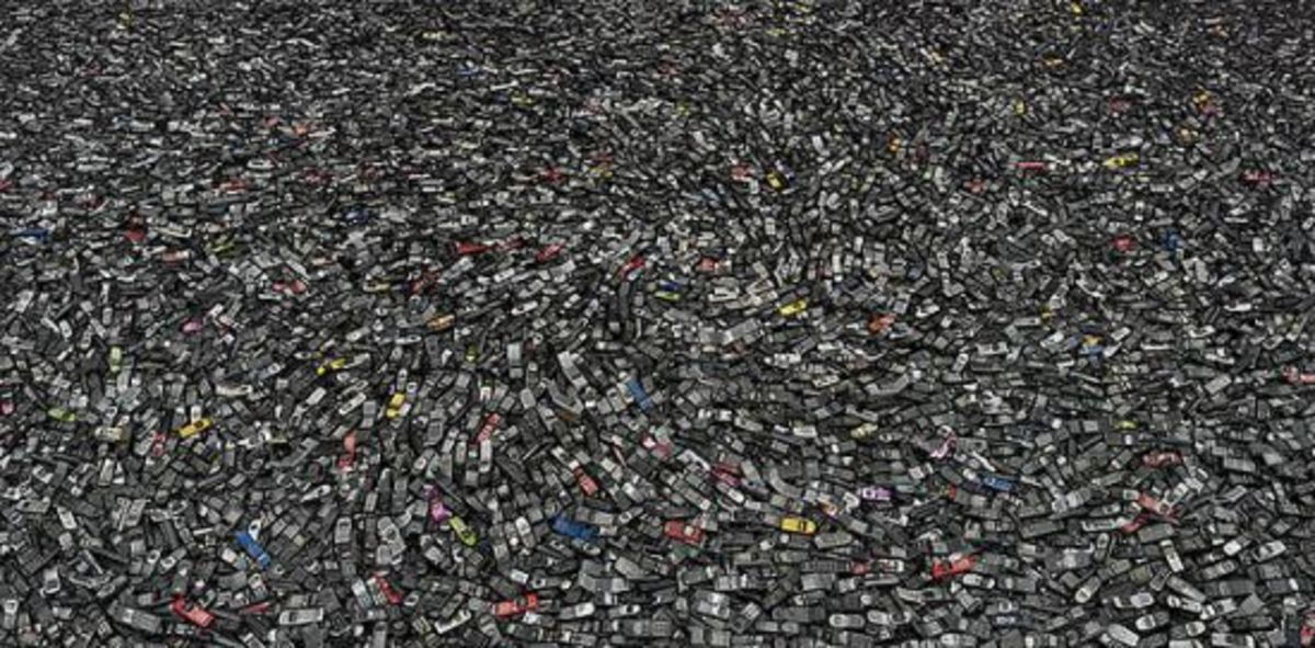 More than 400,000 cell phones are thrown away every day in the U.S.