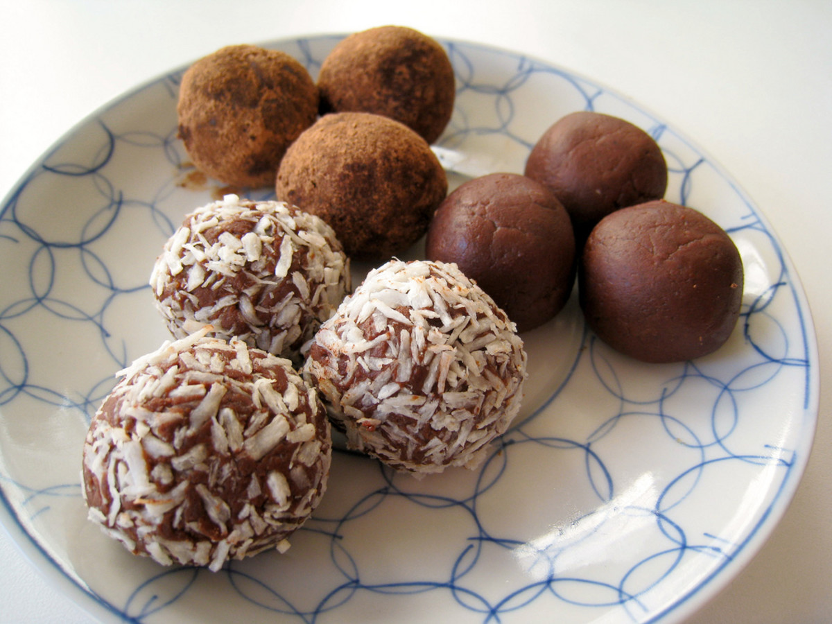 vegan chocolate chili truffles photo