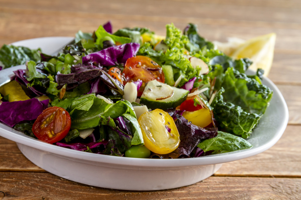 Healthy summer meals include summer salads.