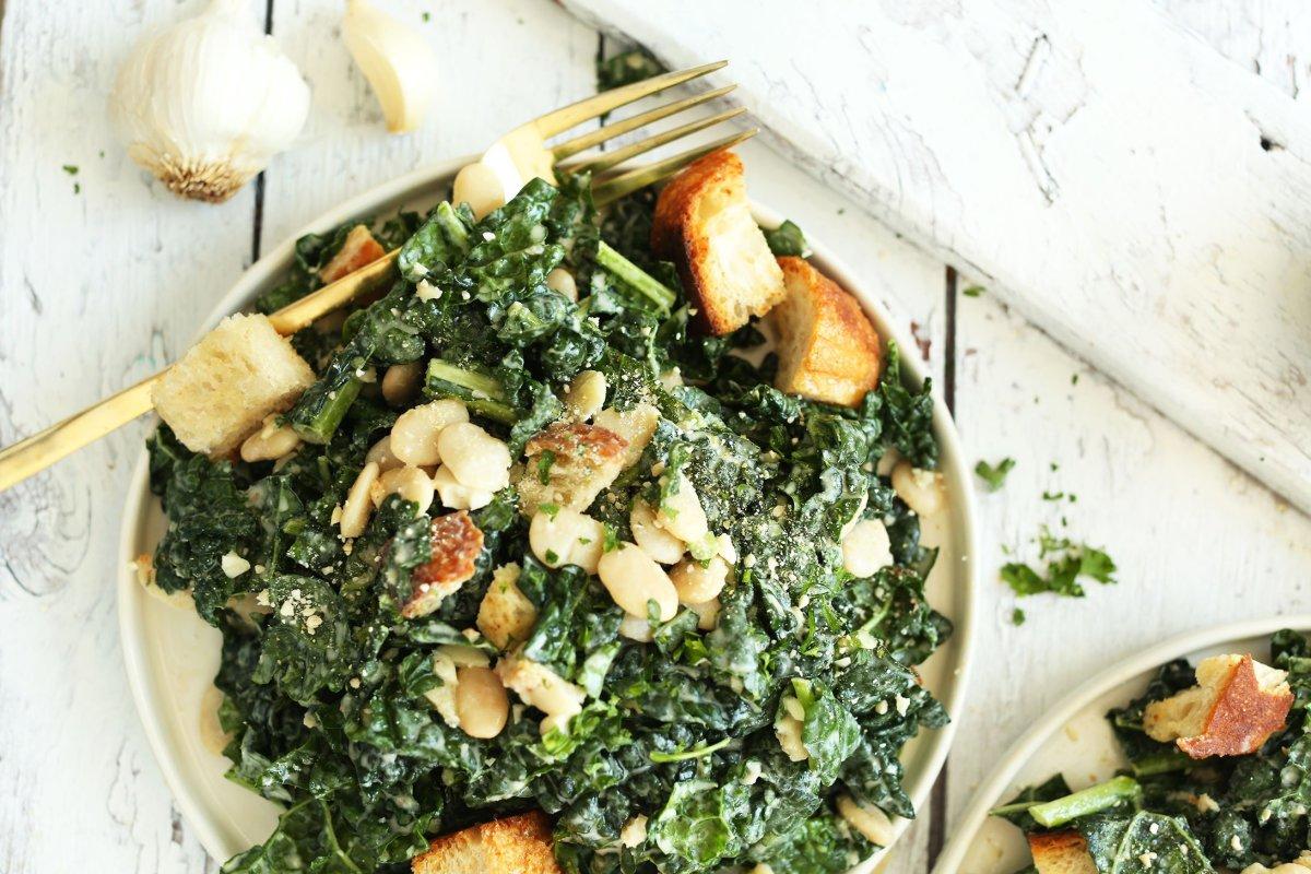 healthy salad recipes - kale salad