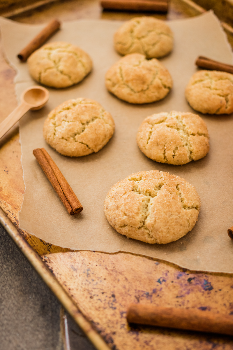 Chewy spiced gluten-free vegan snickerdoodles recipe