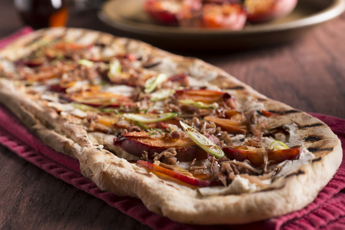 Nectarine Flat Bread Pizza