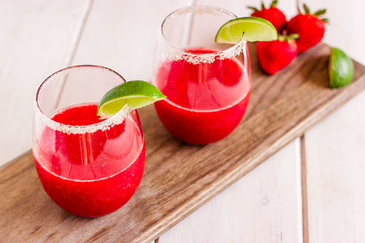 Strawberry Margarita with Organic Tequila