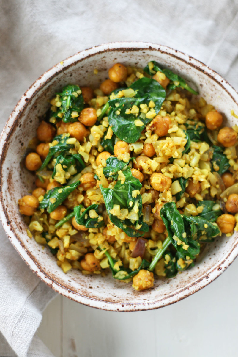 curry cauliflower rice recipe