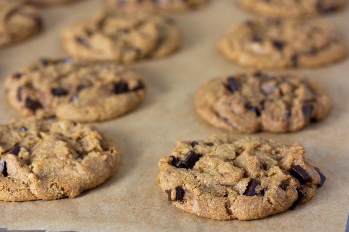 vegan chocolate chip cookies photo