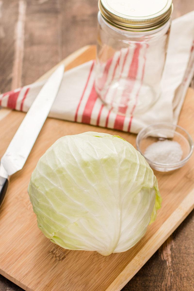 Ingredients For Homemade Sauerkraut