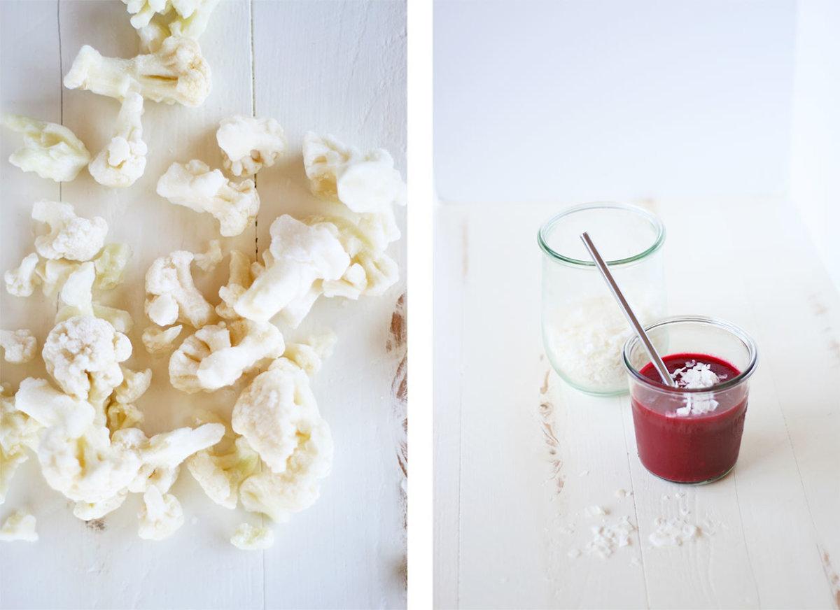 beet berry cauliflower smoothie