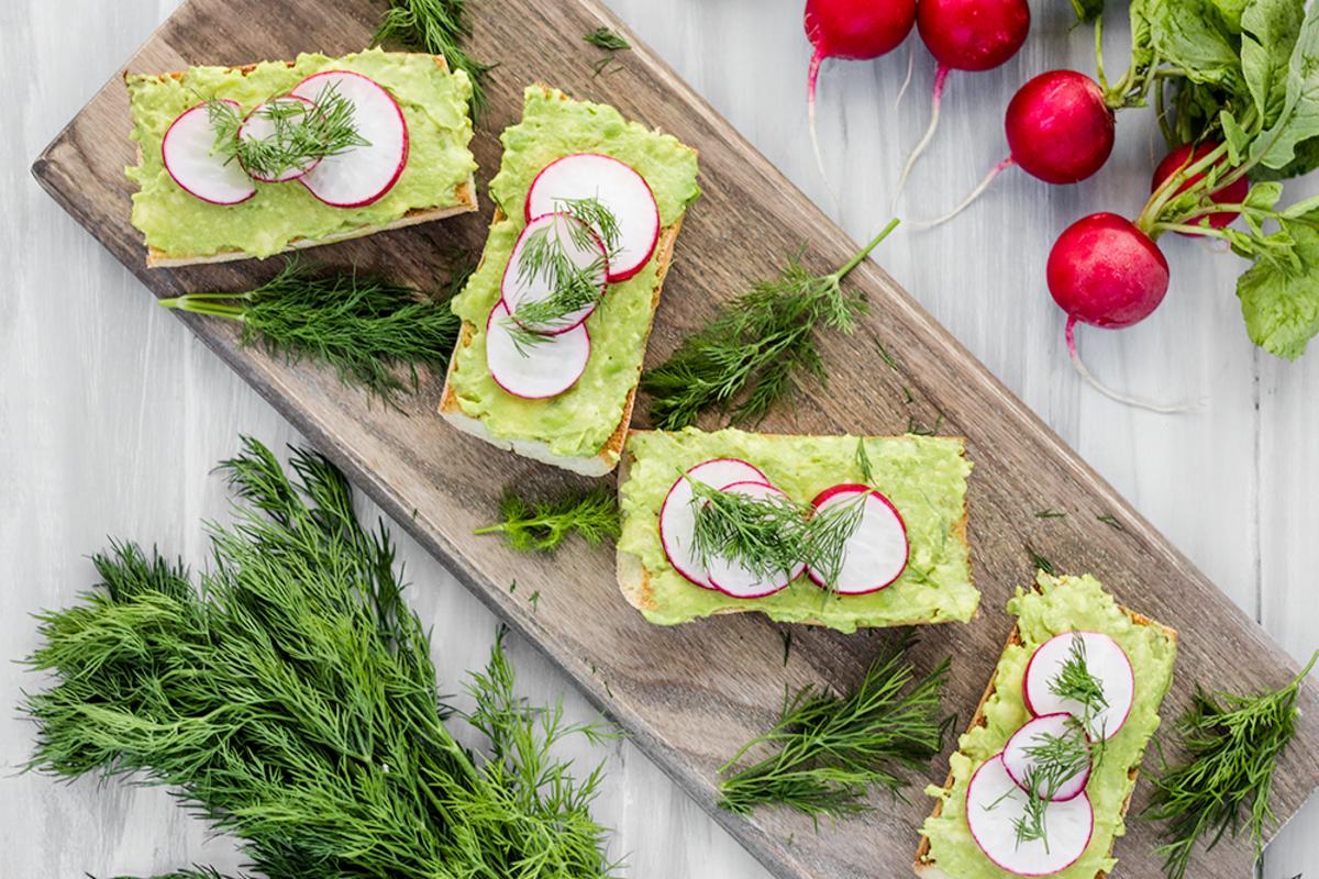 Vegan Avocado Toast with Radishes and Dill Recipe