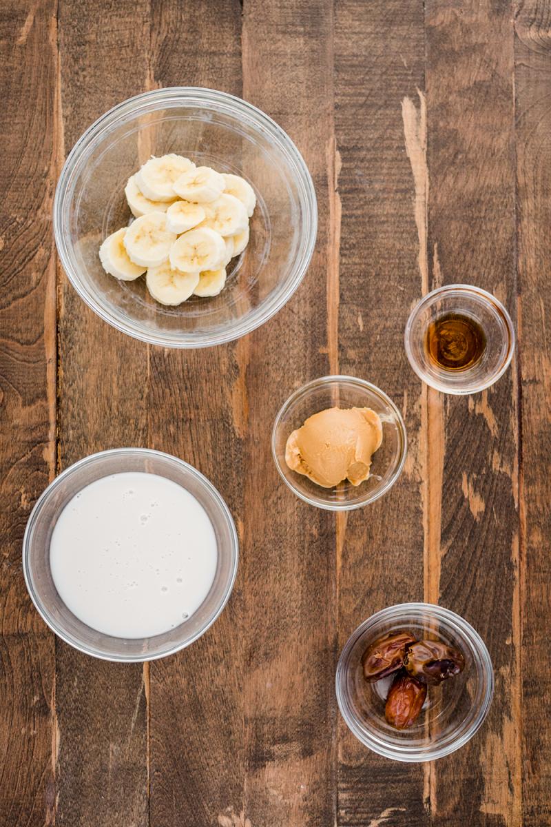 Peanut Butter Smoothie Ingredients
