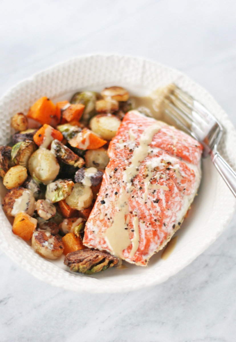 salmon one-pan dinner