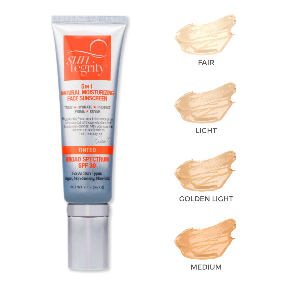 Suntegrity 5-In-1 Natural Moisturizing Tinted Face Sunscreen SPF 30
