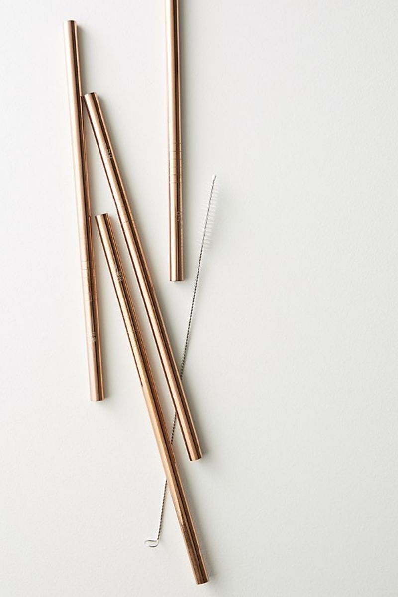 Rose Gold Straws