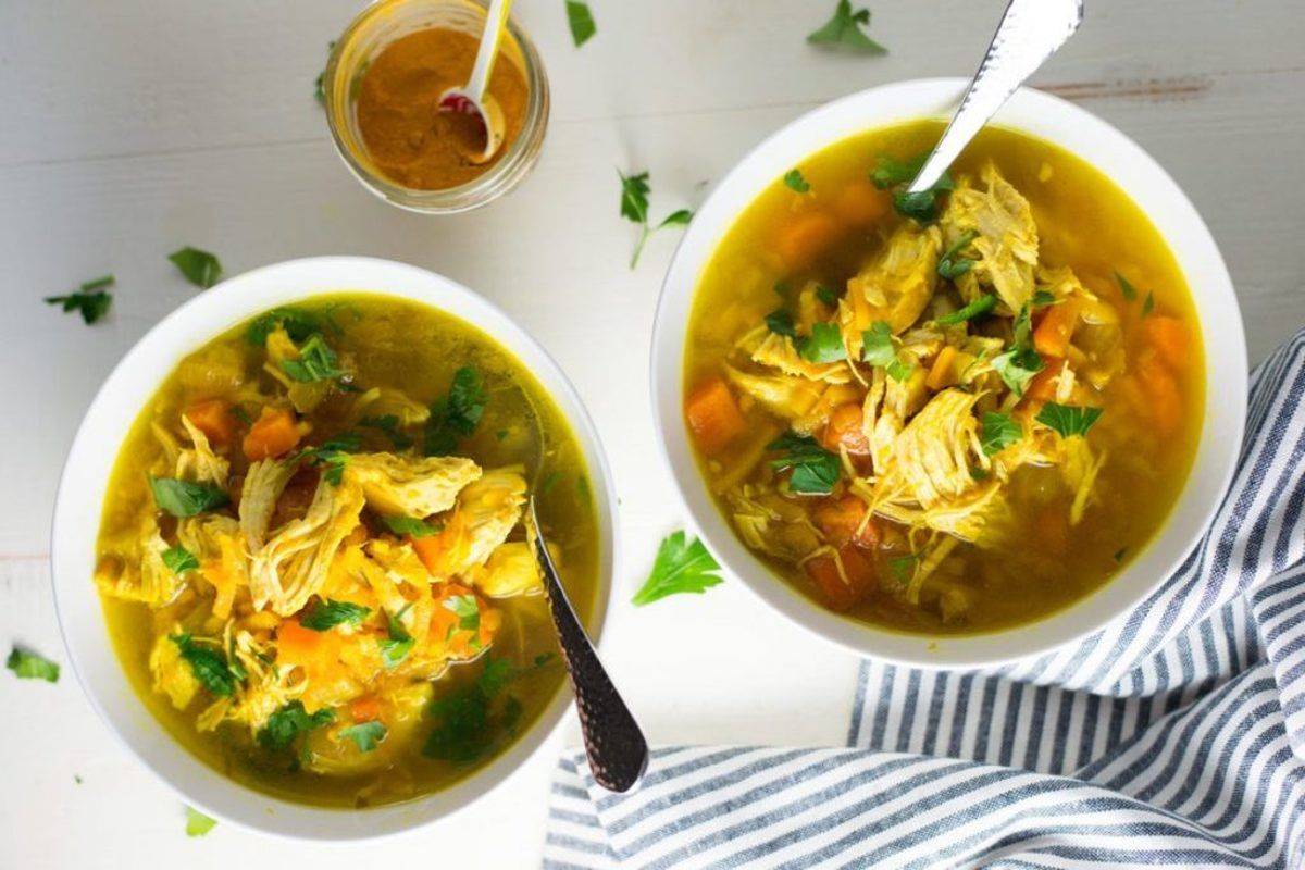 Healthy crockpot recipes worth the wait turmeric chicken no-noodle soup