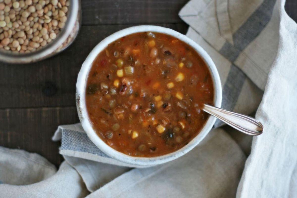Lentil Herbs de Provence Crockpot Soup Kate Gavlick