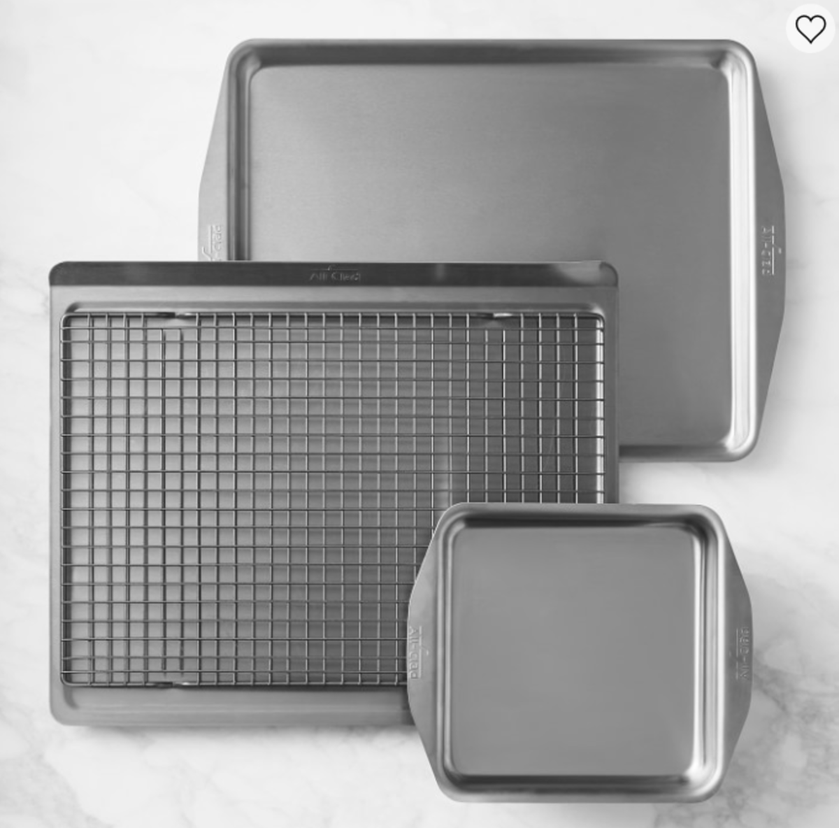 All-Clad d3 Stainless-Steel 4-Piece Essential Bakeware Set