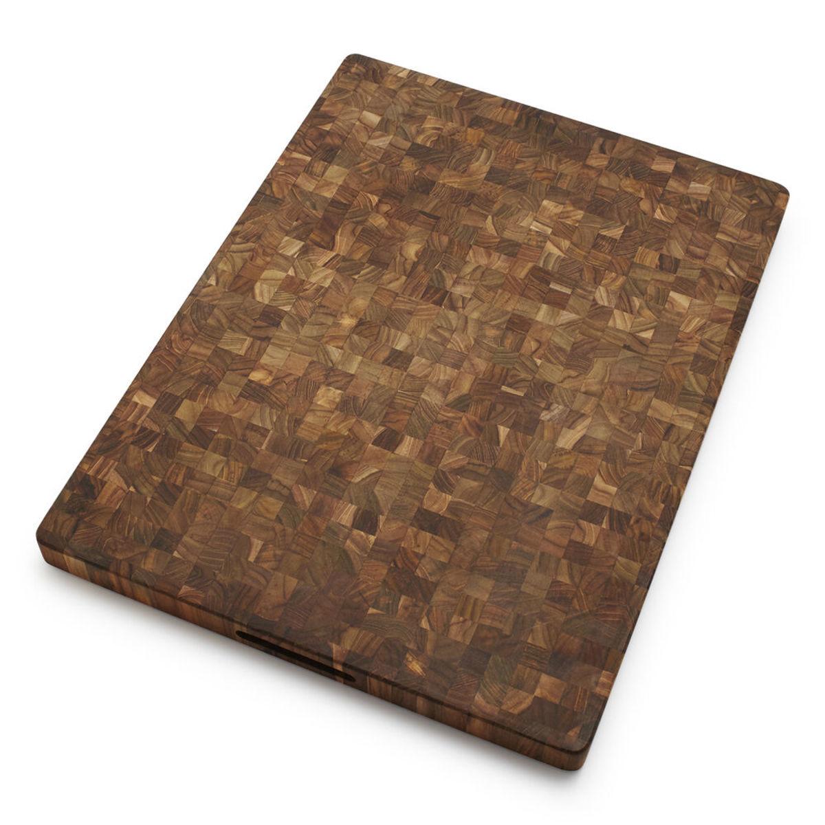 TeakHaus reversible end-grain cutting board