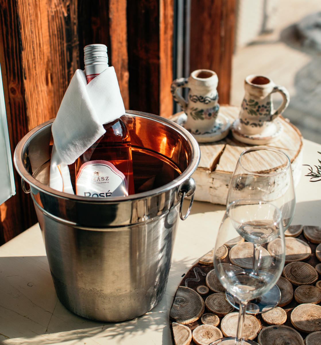 Once looked down on, rosé wine has become the day drink of choice. We like ours organic.