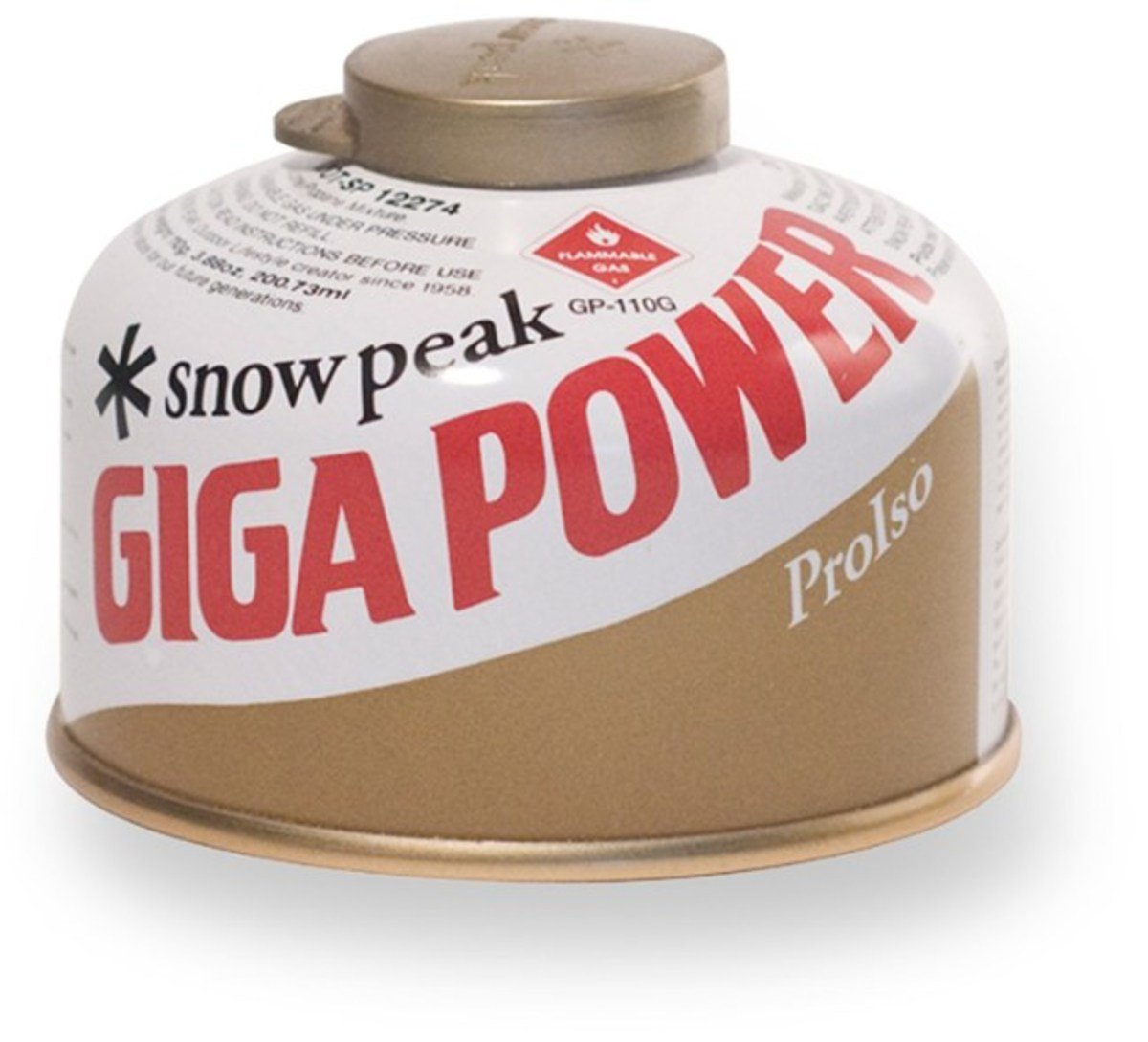 Snow Peak GigaPower 110 Gold Fuel Canister - 110g